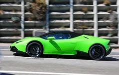 Verde Mantis (jansolanellas) Tags: lambo lamborghini huracan 2016 verde mantis spyder lp610 black rims blackrims green light panning cars sports moving nikon d300s nikond300s 18200mm france verd clar pan barrido