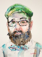 """bow tie Bob"" - watercolour (Nora MacPhail) Tags: portrait portraits sktchy sktchyapp face faces bow tie hat glasses watercolour watercolor noramacphail pencil art painting drawing sketch sketching"