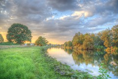 The river of life (blavandmaster) Tags: deutschland himmel clouds ciel duitsland countryside 2016 landschaft minden nrw wolken badoeynhausen handheld 24105 photomatix christiankortum flus canon landscape tyskland wasser water happy processing portawestfalica allemagne september hdr germany kaiserwilhelmdenkmal lovely interesting harmonic beautiful awesome light herbst complete ostwestfalen autumn else eos6d perfect werre weser nuages westfalen monument eau