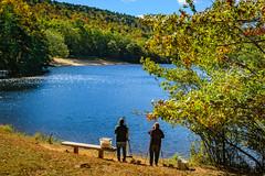 Painters At The Lake (No Talent Bum) Tags: painting painters hangingrockstatepark danburync stokescounty stokescountync nikon northcarolina nc nikond5300 nikkor1024mmdxlens fall fallcolors october
