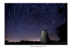IMGD2713` (Paul Compton (PDphotography)) Tags: wind mill windmill sky star iow isle wight bembridge night light trail startrial stack landscape nightscape