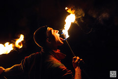 Prague's Performing Pyromaniac (postscriptphoto) Tags: prague fireeater pyromaniac night olftown oldtownsquare czechrepublic