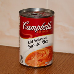Much missed soup (Graham`s pics) Tags: campbells campbellssoup soup tin can tinnedsoup tomatorice campbellstomatoricesoup food snack