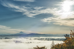 my house is under there somewhere (Ben McLeod) Tags: mthood portland fog morning