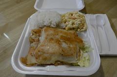 Grilled Mahi-Mahi Fish Meal (SCSQ4) Tags: mahi fish macaroni rice lunch
