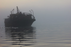 Ghost Ship (Ken Meegan) Tags: ghostship ship fog mist portlairgewaterford portlairge waterford steamship dredger saltmills ladysisland cowexford ireland 2792015