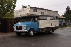 Stealth Camper (rickele) Tags: sacramento southsacramento fruitridgepocket cabover rv motorhome chevyvanchassis chevrolet stealthcamping