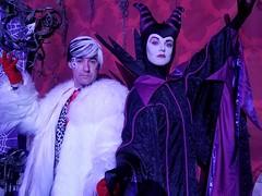 Disney Villain Sean Brown with Maleficent at Halloween (Halloween in Oz) Tags: seanbrown cruella maleficent mickeyshalloweenparty2016 halloween halloweencostume