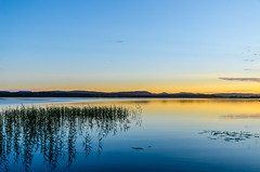 Early dusk (ArtDvU) Tags: sunset dusk landscape lake lakescape finland summer night evening nikon d7000 sotkamo kianta clear weather reflection