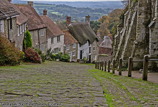 Gold Hill  or the hill the Hovis bread Advert was made Shaftsbury Dorset