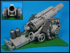 WW1 Heavy Howitzer (Karf Oohlu) Tags: lego moc howitzer heavyhowitzer ww1howitzer artillery gun artilleryshell