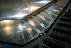 Stairway to Conflict (Brian Negus) Tags: reflection danielliebeskind architecture iwm imperialwarmuseum salford stairs salfordquays