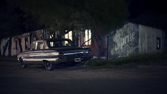 (beetlephoto) Tags: argentina puerto piramides street car old oldtimer ford falcon night mood atmosphere dark darkness sony a7r kolari voigtlander nokton 35mm f12 film noir cinema cinematic 169