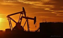 Oil and Gas Series 6 - Rawson, ND (MinnKota Railfan) Tags: oil gas exploration oasis xto well pad site petroleum horse head horsehead sunset sun set north dakota bakken shale plate mckenzie county alexander charbonneau rawson watford city