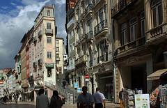 Coimbra (hans pohl) Tags: portugal coimbra villes cities streets rues houses maisons buildings bâtiments façades architecture fenêtres windows clouds nuages