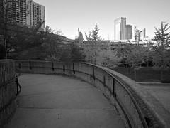 walkway and courtyard (iMatthew) Tags: brutalism brutalistarchitecture architecture bostonarchitecture boston governmentcenter bw