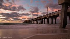 Sunrise at Gulf State Park Pier (stephaniepluscht) Tags: alabama 2016 gulf state park sunrise pier beach waves