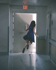 136/365 Life's Exit Door (itskatrinayu) Tags: levitation surreal door self portrait woman 365 project jump manipulation