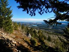 Mt Yamnuska Summit Scramble - View east to Nakoda Lake (benlarhome) Tags: yamnuska alberta canada kananaskis scramble scrambling hike hiking trek trekking trail