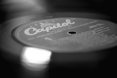 Beatles on Vinyl - Explored 11.29.16 (Melissa_JMH) Tags: macromondays macro mondays beatlesbeetles hmm mm record vinyl bw black white blackwhite mono monochrome dof nikon nikond610 d610 beatles music band vintage explore explored