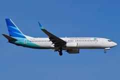 PK-GMX Garuda Indonesia Boeing B737-8U3 (johnedmond) Tags: perth ypph australia boeing b737 737 garuda aviation aircraft aeroplane