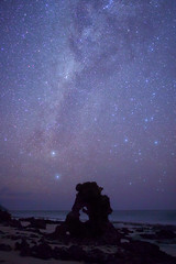 Island night (FofR) Tags: milkyway astro longexposure sea island night time nightscape stars star galaxy sky seychelles darksky beach seaside arch curve astrometrydotnet:id=nova1842839 astrometrydotnet:status=solved