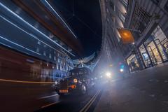 Regent Street (www.javierayala-photography.com) Tags: london londres oxfordstreet regentstreet england inglaterra taxi cab lightstream