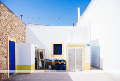 Formentera, Spain (Naomi Rahim (thanks for 3 million visits)) Tags: formentera spain españa island balearicislands mediterranean architecture europe europa travel travelphotography 2016 nikon nikond7200 wanderlust siesta buildings white santfrancescxavier empty lonely street streetphotography village town shadow santfrancescdeformentera