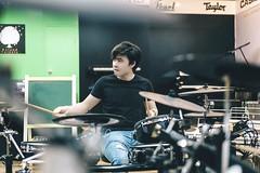 Drumer (Nhp xinh trai siu cp !) Tags: drumer drum musical instrument boy handsome men male portrait indoor test rock canon film digital happy afflatus shoot low light
