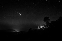 a shooting star (Light Engraver) Tags: world travel light sunset sky blackandwhite bw white black tourism monochrome beautiful night clouds sunrise landscape photography star see asia tour outdoor places visit best rays bnw nigh milkyway startrail engraver dkmunjal lightengraver