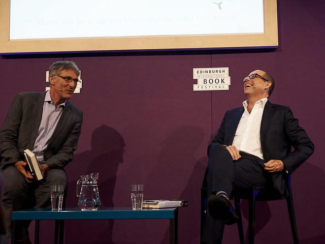 Nick Robinson with his Chair Andrew Franklin