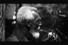 a poor old man trying to eat his final meal at late night .... (দূর্লভ) Tags: street