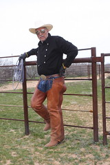 COWBOY PHOTO SHOOT (AZ CHAPS) Tags: ranch arizona leather spurs cowboy boots hats wranglers gloves chaps corral bibshirt