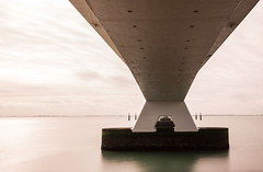 bridge (peter manintveld) Tags: longexposure bridge holland water netherlands zeeland le zeelandbrug nd110