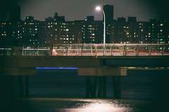 Greenpoint Pier, Brooklyn, NY (emrudaphotography) Tags: nyc nightphotography architecture brooklyn buildings pier long exposure outdoor bikes vignette greenpoint nikon28300mm nikond610