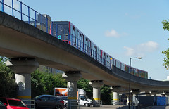 IMGP0505 (mattbuck4950) Tags: england london europe unitedkingdom bridges september canarywharf railways docklandslightrailway 2015 poplardlrstation londonboroughoftowerhamlets docklandslightrailwaytypeb2k lenssigma18250mm camerapentaxk50 dlr01