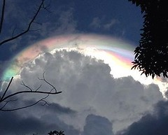 Mysterious Iridescent 'End of Times' Cloud Phenomenon Spotted in Costa Rica (viralworldnews) Tags: world light clouds photo video amazing heaven pic ufo spaceship