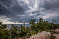 Storm's a Comin' (Jay:Dee) Tags: park sky cloud lake ontario water weather bay coast great lakes shore killarney georgian huron provincial