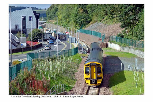 Galashiels. Train departing for Tweedbank. 24.9.15