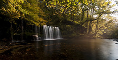 Scwd Ddwli waterfall (c.richard) Tags: longexposure autumn water wales autumncolours waterfallcountry scwdddwli