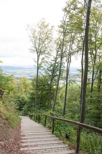 Escalier menant au château de Hohenzollern