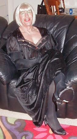 Patricia in Black Satin...! (20)