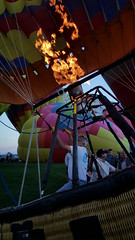 More hot air - careful to not burn the balloon!