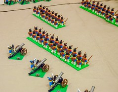 Prussian arrival and battle for Plancenoit (SEdmison) Tags: california french lego belgium military waterloo convention santaclara prussian battleofwaterloo plancenoit bricksbythebay bricksbythebay2015