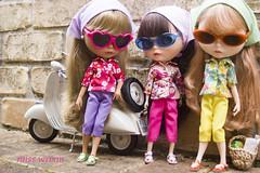 street life (JennWrenn) Tags: shirt print liberty capri doll pants handmade headscarf melody meredith blythe marianne kerchief