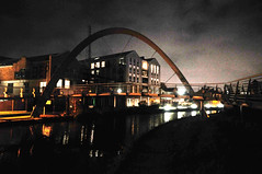 DSC_0230_mod (Martin Crowhurst) Tags: bridge night canal coventry coventrycanal