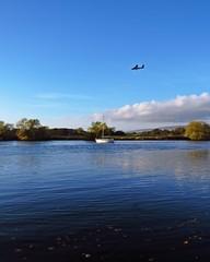 Transport Scotland (Bricheno) Tags: plane river airplane scotland boat yacht escocia aeroplane cart szkocja schottland loganair scozia rivercart cosse flybe  esccia   bricheno scoia
