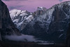 Pink Alpenglow over Yosemite's Half Dome (Darvin Atkeson) Tags: california park pink sunset snow mountains clouds forest glow nevada canyon sierra glacier alpine national valley yosemite half halfdome rest bridalveil elcapitan darvin atkeson darv lynneal yosemitelandscapescom