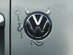 What would the Devil drive? (stevenbrandist) Tags: ice car vw volkswagen crime lie badge emissions scandal cheat steal nox co2 polluter