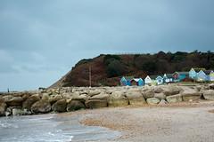 Hengistbury Head, Groyne and beachhuts (LostnSpace2011- Back Soon) Tags: winter beach dorset groyne beachhuts hengistburyhead
